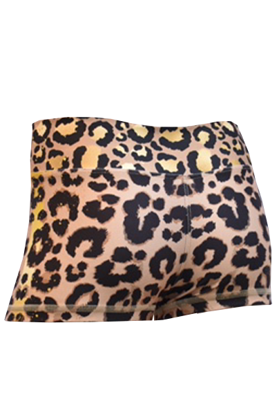 short cheeta beige back