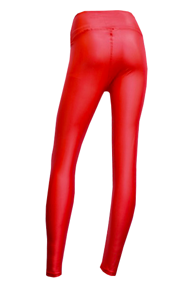glossy red back