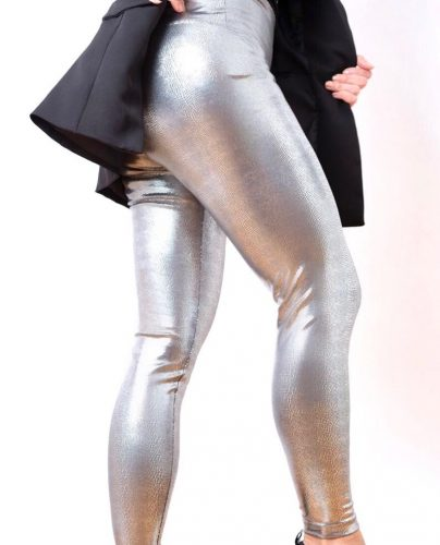 GLAM SILVER CRASH LEGGINGS SIDE