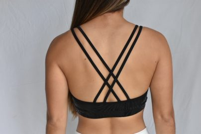 BLACK ZEBRA BRA BACK